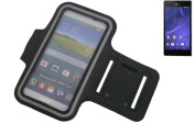 Fit Neoprene Armband Jogging / Sports Armband / Case Sport / Sport Case / Upper Armband for Sony Xperia Style in black. Universal Fitness Armband for the outdoor use of the Sony Xperia Style. Through the inlet for the headphones / earplugs you can also ..
