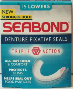 Seabond Denture Fixature Seals 15 Lowers x 6 Packs