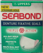 Seabond Denture Fixative Seals 15 Uppers x 6 Packs