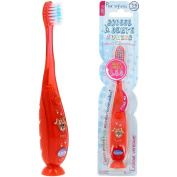 Child's Toothbrush with LED Luminous Sand Timer Red