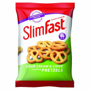 Slim Fast 23 g Sour Cream Pretzel Snack Bag - Pack of 12
