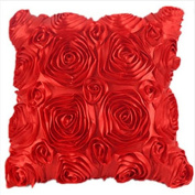 TheWin Bedroom Cushion Rose Embroider Pillow Cover Red