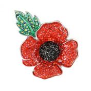 Angelys Poppy Jewellery - Large Four Petal Brooch - New Design - Gift Boxed
