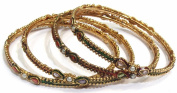 Shingar Jewellery Ksvk Jewels Women's Antique Gold Plated Polki Kundan Bangles Set In 2.4 Size