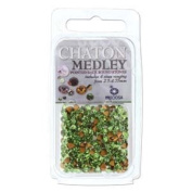 Beadsmith Chaton Medley Mix 2.5Mm To 4.75Mm Pointed Foil Back Setting Stones