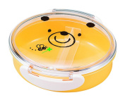 "JoliBento Plastic ABS BPA Free ""Bear Kodomo"" Bento Lunch Boxes, Yellow"