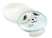 "JoliBento Plastic ABS BPA Free ""Dog Kodomo"" Bento Lunch Boxes, White"