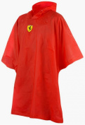 PONCHO Raincoat Formula One Ferrari F1 Team Prancing Horse Shield One Size