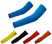 Outdoor Cycling Summer UV Protection Arm Sleeves Warmers Covers Arm Cooling Cuffs Thin and Stretchable 4 Colours for Women Men Fishing/Golf/Running