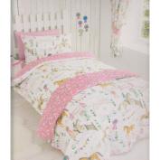 Horses Animals Girls Single Quilt Duvet Cover & Pillowcase Bedding Bed Set New
