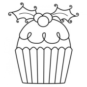Gourmet Rubber Stamps Cling Stamps 8.3cm x 12cm -Cupcake