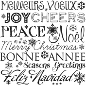 Gourmet Rubber Stamps Cling Stamps 8.3cm x 12cm -Christmas Word Background