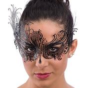 Carnival Toys 00726-adult mask, Metal, Black