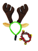 Doggy Things Antlers and Plaid Christmas Collar, Small/Medium