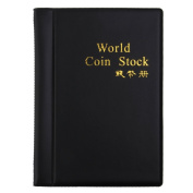 Coin Collectors Collecting Album 120 Coin Holders Black