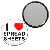 I Love Spreadsheets - 77mm Round Compact Mirror