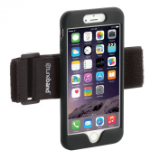 TuneBand for iPhone 6 Plus, Premium Sports Armband with Two Straps and Two Screen Protectors, BLACK