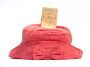 Mothercare pink bow corduroy baby girls hat 1 - 4 years 100% cotton Washable 12m