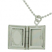 The Olivia Collection Silvertone Book Locket Pendant On 41cm Adjustable Chain