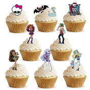 37 Monster High Stand Up Premium Edible Wafer Paper Cake Toppers