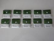 My Ashtray TEN Green and White pocket Ashtrays