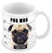 Pug Mug Shot Novelty Joke Mug