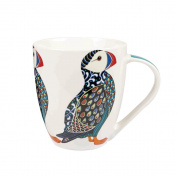 Queens Fine China Couture Puffin Mug, Multi-Colour