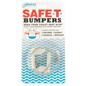 Compac's Toilet Seat Stabilisers Safe T Bumpers, Lock Seat Safely in Place, Keeps Children, Elderly, Disabled or Infirm Safe From Slipping Off Shaking, Moving or Wobbly Toilet Seat-Easy to Instal