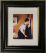 Game On by Jack Vettriano Framed Art Print Picture (33cm x 28cm) Black Frame