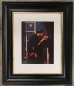 Night Geometry by Jack Vettriano Framed Art Print Picture (33cm x 28cm) Black Frame