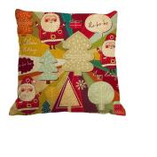 Amybria Throw Cotton Linen Pillow Case Cushion Cover Christmas Decor Home Sofa Bed Tree
