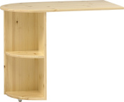 Steens Kids Pull Out Pine Desk for Mid-Sleeper Bed, Natural Lacquer Finish