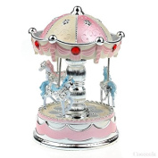 ParaCity Carousel Music Boxes Hot Chrismas Birthday Gifts Merry-Go-Round Music Box For Kids Valentine's Gift Best Show In Love