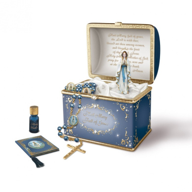 Our Lady Musical Porcelain Prayer Box By The Bradford Exchange