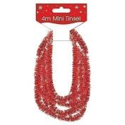 Red Mini Christmas Decoration 4M Tinsel Decorate Xmas Tree Presents