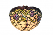 Wild Vine Stained Glass Tiffany Style Wall Light