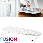 FUNKY FOLDABLE PORTABLE COMPACT TABLE TOP MINI IRONING LAUNDRY BOARD WITH COVER Fusion