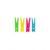 Rayher 6135549 Wooden Clothes Pegs 4.5 cm (Pack of 24) Assorted