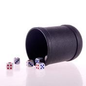 SmartDealsPro Mini Professional Black Poker/Liar's Game Dice Cups with 5 dices