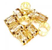 Dread Lock Dreadlocks Braiding Beads Gold Silver Metal Cuffs Hair Accesories Decoration Filigree Tube Rasta