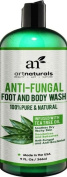 ArtNaturals Antifungal Soap with Tea Tree Oil - 100% Natural Best Foot and Body Wash 270ml, Helps with Nail Fungus, Athletes Foot, Ringworm, Jock Itch & Body Odour - Kills Bacteria & Relieves Itching