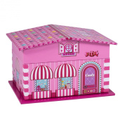 Pink House Ballerina Swan Lake Music Jewellery Box