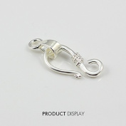 "20piece Silver Plated ""S"" Hook and Eyes Toggle Clasp Bail Connector Charm for DIY Jewellery Making Findings Jc174"