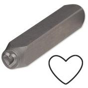 Heart Steel Design Stamp Punch Tool to Embellish Metal, Plastic, Jewellery Blanks, Clay+