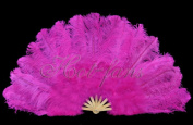 Hot-fans Marabou and Ostrich Feather Fan 70cm x 130cm ,hot Pink