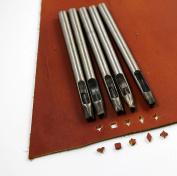 5 Stlye Crafts Shape Punch Designer Punch Set : Wing/Square A/Star/Diamond/Square B