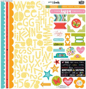 Illustrated Faith Whatever is Lovely Treasures & Text Scrapbook Sticker Sheet