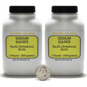 Sodium Sulphate [Na2SO4] 99.9% ACS Grade Powder 0.9kg in Two Plastic Bottles USA