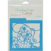 Rebecca Baer Stencil 15cm x 15cm -Steampunk Pocket Watch