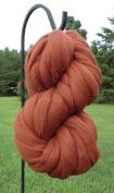 Chestnut Brown Wool Top Roving Fibre Spinning, Felting Crafts USA